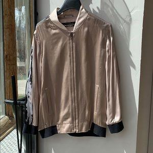 Silk jacket. Hand painted